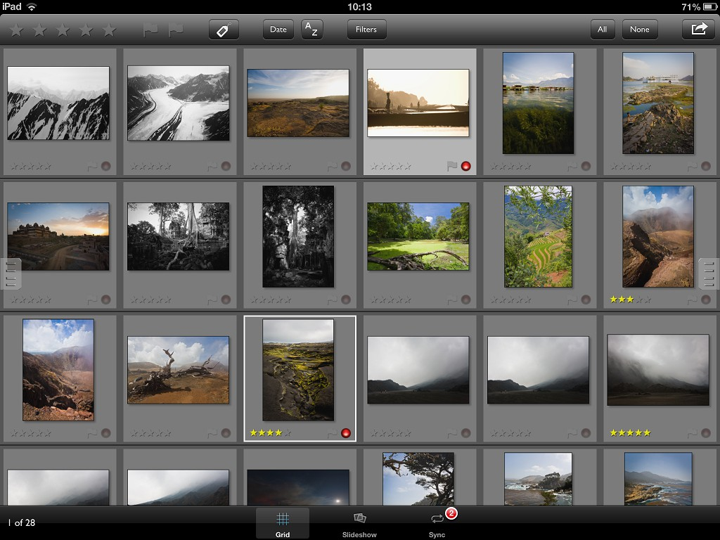PhotoPhile Grid Page