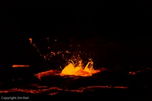 Lava has detail on a black background
